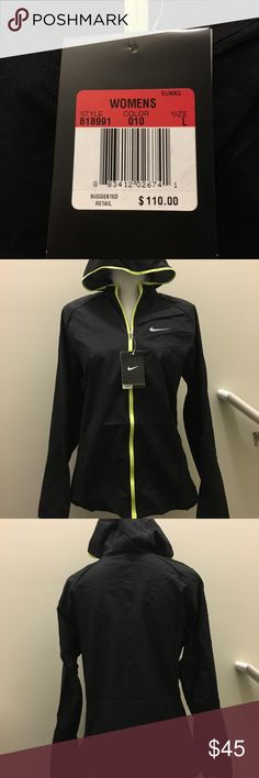 Nike Packable Running Zip Jacket Ladies Nike very lightweight running jacket.  Folds up to fit 8a5d18a2e