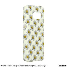 White Yellow Daisy Flowers Samsung Galaxy S7 Case