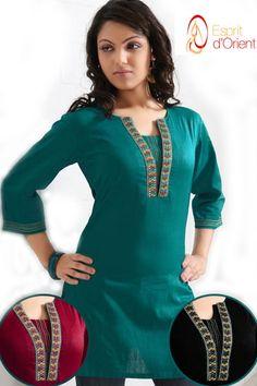 Tunique Femme Tendance Longue Rose Malabar Broderies Paillettes Modele Hijab, Kurti Patterns, African Shirts, Dress Neck Designs, Islamic Fashion, Indian Designer Wear, Frocks, Dress Collection, Designer Dresses