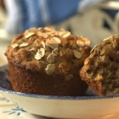 Date-Oat Muffins  Toasting the oats for this hearty muffin enhances their nutty flavor; orange zest contributes a citrus fragrance that plays well with the sweet dates.