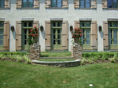 Tuscan Back yard paradise - traditional - exterior - philadelphia - H. French Door Shutters, Cedar Shutters, Futuristic Lighting, Front Door Trims, Antique French Doors, Shutter Designs, Contemporary Furniture Stores, Shutter Doors, Traditional Exterior