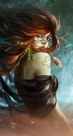Kaieto ----------- Wind Queen by ~rustikuz on deviantART (cropped for detail)