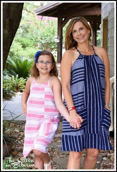 The perfect summer dress from Old Navy; Mom & me style; Queeninbetween.blogspot.com