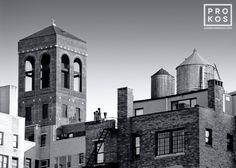 Greenwich Village Rooftops (B&W)