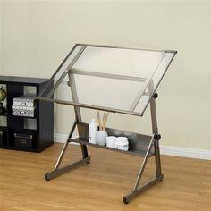 mesa de dibujo de vidrio