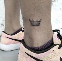 2017 trend Women Tattoo - Micro crown by Mr. Koo...
