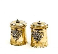 Pair of Small Apothecary's Jars. Augsburg. 1614-1616. Tobias Kicklinger