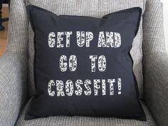 Crossfit, crossfit pillow, decorative pillow