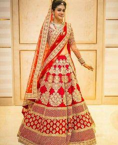 Fashion: 5 wedding lehangas to look out for this wedding se. Indian Bridal Outfits, Indian Bridal Lehenga, Indian Bridal Fashion, Indian Dresses, Bridal Dresses, Wedding Outfits, Indian Clothes, Red Lehenga, Lehenga Choli
