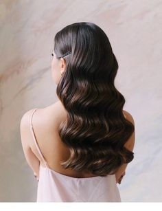 Amazing wavy hair Inspiring ladies - All About Hairstyles Wedding Hair And Makeup, Hair Makeup, Hair Wedding, Wavy Bridal Hair, Classic Wedding Hair, Wedding Beauty, Elegant Wedding, Boho Wedding, Pretty Hairstyles