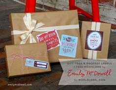 Witty Free Printable Gift Tags from Emily McDowell