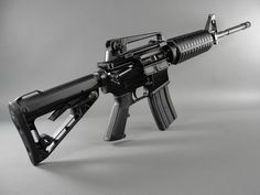 Colt M4 Carbine sporting the new Roger's Superstock-- standard equipment on all new 6920s.