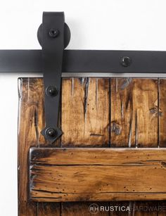 Barn Door Hardware & Design - would love to do this in my master bedroom to save the space from the door swinging open.