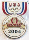 2004 Athens Greece Olympics USA Oroweat Promotional Trading Collectible Lapel Pin - http://shopattonys.com/2004-athens-greece-olympics-usa-oroweat-promotional-trading-collectible-lapel-pin/