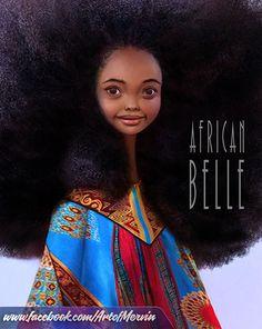 Wow, I love her hair!  ArtStation - African Belle 3, Mervin Kaunda