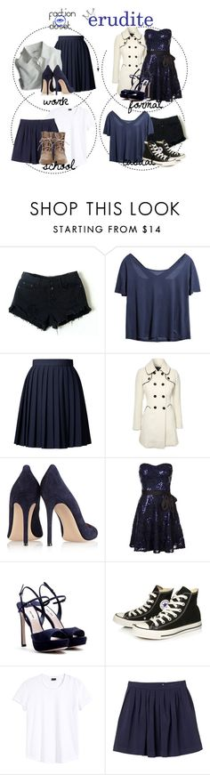 """Erudite"" by seaspree ❤ liked on Polyvore featuring Retrò, Orla Kiely, Dogpile, Jane Norman, Gianvito Rossi, Morgan, Miu Miu, Converse and Monki"