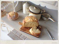Rustic Bread Loaf - Dollhouse Miniature Food