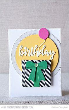 Handmade card from Keisha Campbell featuring Brushstroke Birthday Greetings Die-namics.