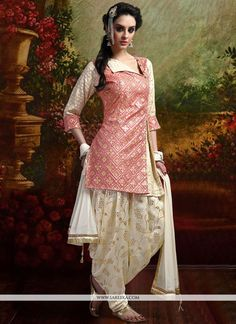 Add a vibrant burst of colour in your wardrobe with this peach banarasi silk readymade suit. The stunning weaving work a considerable feature of this attire. Comes with matching bottom and dupatta. (S...