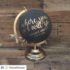 Have your guest sign a globe instead of the usual guest book! Provide different color pens (your wedding color) for a WOW effect! Disney Crowd Calendar, Diy Wedding, Wedding Gifts, Wedding Quotes, Trendy Wedding, Wedding Ideas, Painted Globe, Deco Marine, Globe Art
