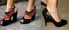 transformar y reciclar zapatos con cuentas