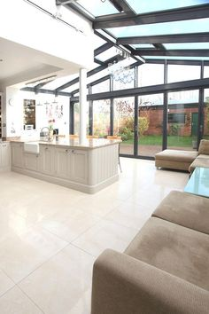 Contemporary Conservatory Ideas: Open Plan Extension for the Home, Manchester, England « Adelto Adelto Glass Extension, Roof Extension, Extension Ideas, Extension Google, Conservatory Kitchen, Conservatory Ideas, Bungalow Renovation, English House, House Extensions