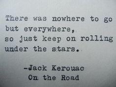 JACK KEROUAC Hand Typed Typewriter Quote Hand Typed on Vintage Typewriter Jack Kerouac Quote