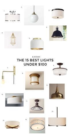 15 best lights under $100, A great selection of pendant lights, flushmount lights, and semi-flushmount lights all under $100.