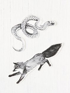 fox and snake temporary tattoos!