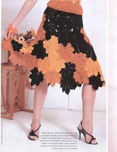 Patrón #1351: Falda a Crochet