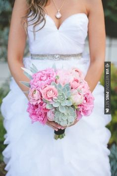 Nice - Perfect pink and green! | CHECK OUT MORE GREAT PINK WEDDING IDEAS AT WEDDINGPINS.NET | #weddings #wedding #pink #pinkwedding #thecolorpink #events #forweddings #ilovepink #purple #fire #bright #hot #love #romance #valentines #pinky