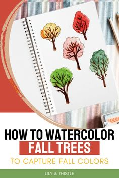Fall trees are a classic sign of the season but are they hard to watercolor? The answer is no if you have my simple process! Check out how to watercolor fall trees and capture the colors of the season perfectly Diy Artwork, Artwork Ideas, Autumn Activities For Kids, Art Activities, Watercolor Projects, Watercolor Paintings, Craft Projects For Kids, Craft Ideas, Fall Arts And Crafts