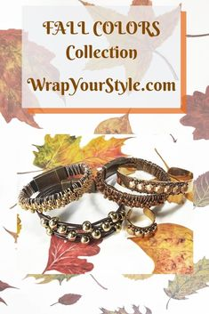 The colors of fall. Rich browns and bronzes with gold bead accents. All my leather bracelets have a magnetic clasp for easy on and off. My customers really appreciate this, especially my gals with arthritis. #wrapyourstyle #leatherbracelets #magneticclasp #madeinusa