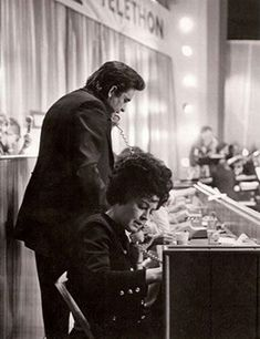 Working the Phones, Jerry Lewis Telethon, 1972 Johnny Cash June Carter, Johnny And June, Johnny Cash Museum, Jerry Lewis, 8 Year Olds, Luther, Country Music, Music Artists, Candid