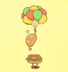 Pop icon: But what sane person alloy balloons to a sandwich.