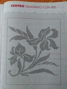 Filet Crochet, Crochet Lace, Bargello, Cross Stitch Flowers, Loom Beading, Color Patterns, Embroidery Stitches, Diy And Crafts, Crochet Patterns