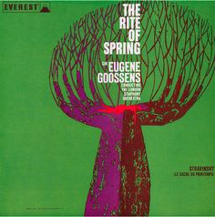 """Album cover by Juan Carlos Colevatti, 1960, """"The Rite of Spring"""" from Gebrauchsgraphik."""