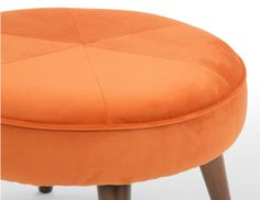 Lulu Footstool in Chatelet orange £159 | made.com #LetsColour