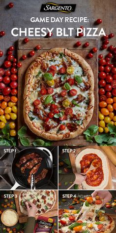 Promoted by Sargento®. Searching for that ultimate dish to give your party the home-turf advantage? Made with fresh ingredients like baby spinach, vine-ripened cherry tomatoes and mozzarella cheese that's always shredded fresh off the block. Try this pizza on game day and win the weekend! Click through for the full recipe.