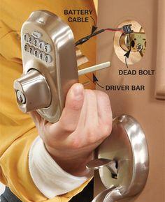 upgrade front door locks with keyless door locks electronic lock
