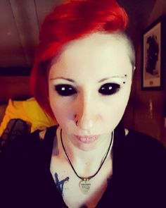 Curious one by dren_akiba #arcade #microhobbit (o) http://ift.tt/1SiXmBx am the demon ! #Demon #DemonEyes #BlackEyes #RedHair #DemonGirl #InkedGirl #Piercing #PiercingNez #NosePiercing #NoseRing #PiercingArcade #Arcade #Eric13Tattoo #Eric13Plectrum #DrenAkiba #Tattoo #Ink