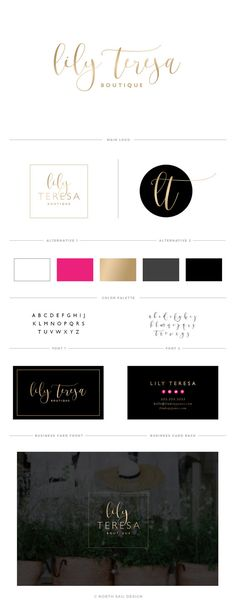 Lily Teresa Premade Logo Boutique Logo Branding by NorthSailDesign
