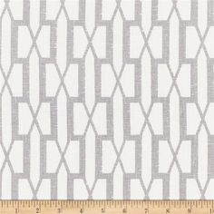 Schumacher Belvedere 100% Linen Grey from @fabricdotcom  This beautiful screen-printed, medium weight, 100% linen has a smooth hand and is perfect for window treatments (draperies, swags, valances), toss pillows, bedding and more. Colors include white and grey.