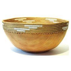 Handmade Bowl Tan And White