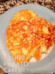 Leftover mashed potato cakes