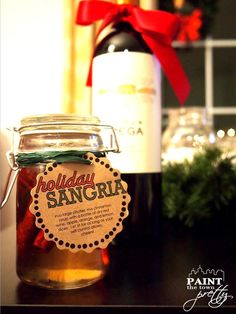 Holiday 🎄Cinnamon Sangria -- Great homemade Christmas present! 🎁Paint The Town Pretty Christmas Time, Christmas Crafts, Christmas Ideas, Homemade Christmas Presents, Holiday Sangria, Best Stocking Stuffers, Nutrition, Holy Night, Silent Night