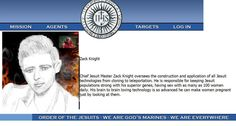 """Gail used GIMP (similar to Photo Shop) to insert her portrait of Antichrist Zack Knight into the www.orderofthejesuits.com web page about him. She does not want to use the picture Zack used at his website, to minimize his ability to impregnate women who view his picture. She believes her portrait is """"safe"""". Gail's use of """"Photo Shop"""" is quite obvious, unlike the Jesuits, because she's uses """"photoshop"""" for artistic purposes and not to deceive. Zack Knight, Beast Of Revelation, Tell The Truth, Celebrity Pictures, No Response, Photoshop, Website, Portrait, Celebrities"""