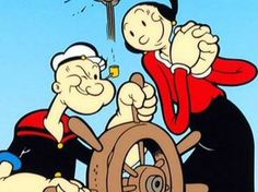 Popeye et Olive Oil Cartoon Cartoon, Cartoon Photo, Cartoon Characters, Popeye Cartoon, Vintage Cartoons, Classic Cartoons, Popeye Et Olive, Popeye And Olive Costume, Olive Oyl Costume