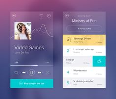 The collection of diverse UI design concepts for music streaming applications: check the variety of players, catch the vibe and get inspired. Web Design, App Ui Design, User Interface Design, Graphic Design, Design Trends, Site Portfolio, Software, Ipad, App Design Inspiration