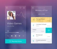 Music app by Jakub Antalík